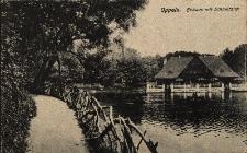 Opole : domek lodowy, staw, fragment parku zamkowego