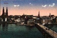 Opole : prawobrzezna część Opola ; widok na Most Stulecia, z panoramą Opola