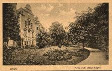 Opole : fragment zamku i ogrodów zamkowych