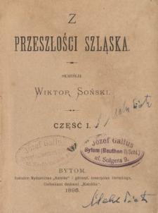 Z przeszłości Szląska. Cz.1