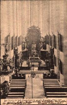 Nysa : wnętrze kościoła pw. św. Jakuba St. i św. Agnieszki przed renowacją przeprowadzoną w latach 1889-1895