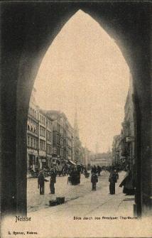 Nysa : widok na rynek od strony Bramy Wrocławskiej