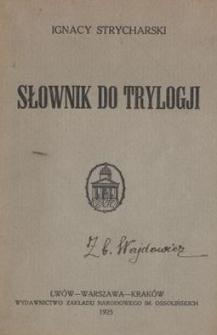 Słownik do Trylogji
