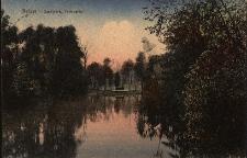 Nysa : widok na staw w parku