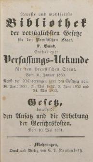Neueste und wohlfeilste Bibliothek der vorzüglichsten Gesetze für den Preussischen Staat. 7 Band
