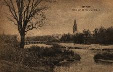 Nysa : widok na ewangelicki kościół garnizonowy i most Berlińsko-Nyski