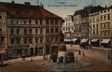 Nysa : rynek, w centrum pomnik Fryderyka III