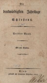 Die denkwürdigsten Jahrstage Schlesiens. Bd.3