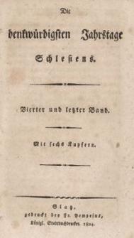 Die denkwürdigsten Jahrstage Schlesiens. Bd.4