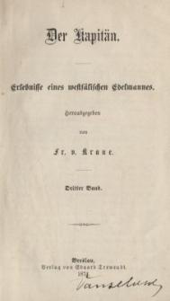 Der Kapitän : Erlebnisse eines westfälischen Edelmanness. Bd.3