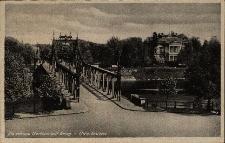 Brzeg : Most Odrzański, po prawej stronie willa Molla