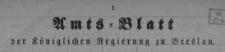 Amstblatt der Königlichen Regierung zu Breslau. Stück 21