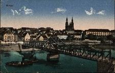 Brzeg : Most Odrzański z wjazdem na nieistniejącą już dziś ul. Celną zburzoną po 1945 roku