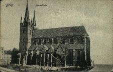 Brzeg : Kościół pw. św. Mikołaja, pomnik Marcina Lutra