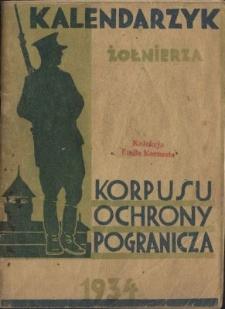 Kalendarzyk Żołnierza Korpusu Ochrony Pogranicza